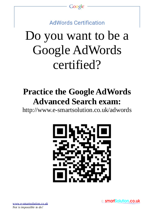 Do you want to  be a Google AdWords certified?