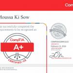 Moussa Ki Sow CompTia A+
