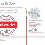 Moussa Ki Sow CompTia network+