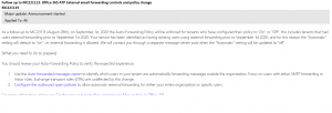 Office 365 ATP External email forwarding