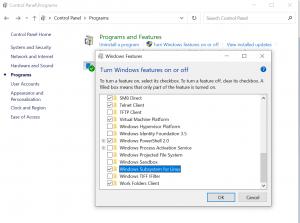 WindowsSubsystemforLinuxesmrtsolution