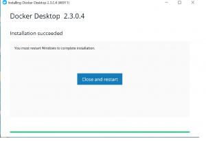 Docker Desktop new version is available