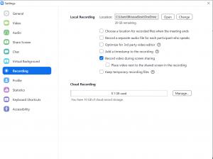 Enabling recording